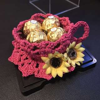 [ValentinYou're my cup of tea - Cup Crotchet with Ferrero Rocher