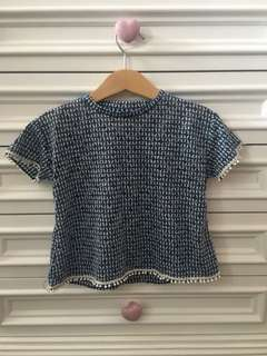 Zara Girls Blue T-Shirts