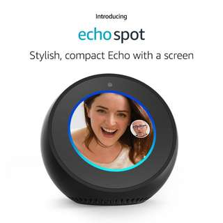 Amazon Echo Spot with Alexa Smart Home Automation Voice Control BLACK
