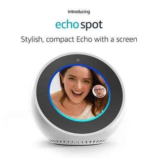 Amazon Echo Spot with Alexa Smart Home Automation Voice Control WHITE