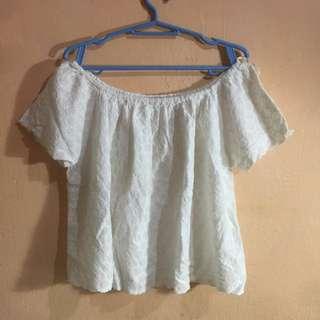 Zara Crochet Off Shoulder Top