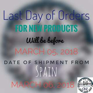 Order now before it's too late!