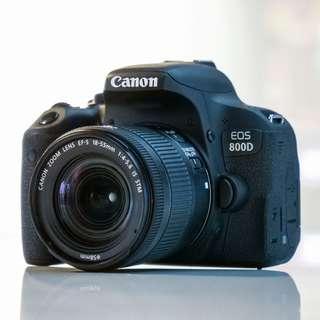 kredit dp 10% Canon EOS 800D WIFI 18-55 IS STM Kit - Cicilan tanpa kartu kredit
