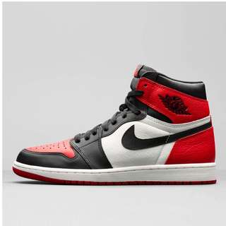 NIKE AIR JORDAN 1 RETRO HIGH OG GYM RED / BLACK / SUMMIT WHITE