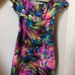 Colorful off shoulder dress