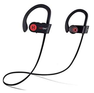 Hopday Bluetooth Headphones, Wireless Headphones, HOPDAY U8 In-Ear Bluetooth Earbuds, Built-in Mic, Stereo Sound, Noise Cancelling IP68 Waterproof Sweatproof Wireless Earbuds for Running Exercising