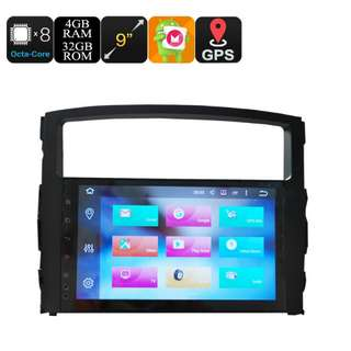 9 Inch Car Stereo One Din - Octa Core, 4+32GB, Android 6.0, GPS, WiFi, 3G Support, CAN BUS, For Mitsubishi Pajero (CVAIO-C608)