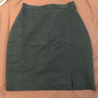 Vintage teal high waisted skirt