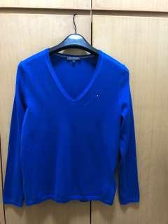 Tommy V領綿質衫
