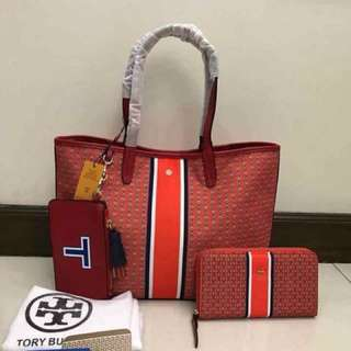 Tory Burch set (wallet plus bag) with free pouch