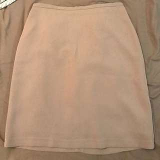 Vintage beige high waisted skirt