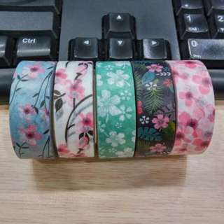 Flower washi tape