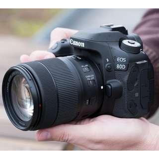 kredit dp 10% Canon EOS 80D Wi-Fi DSLR Camera with 18-55mm - Cicilan Tanpa CC