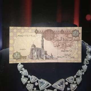 埃及纸币one pound