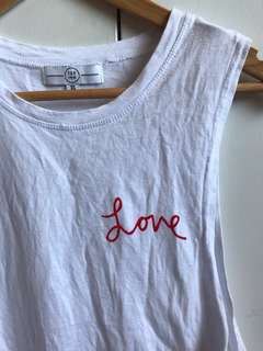 "TEE INK ""Love"" Graphic Sleeveless Top"