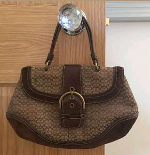 Coach Hand Bag Signature Jacquard