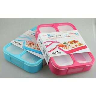 Lunch Box 3 Sekat Proof Grid BPA Free
