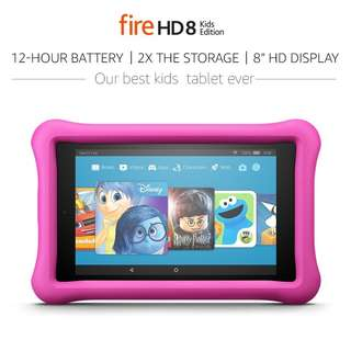 Amazon Fire HD 8 Kids Edition Tablet 8 Inch 32GB Kid Proof Case PINK