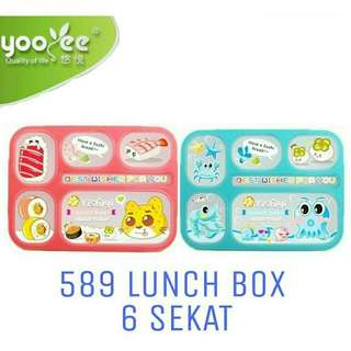 Lunch box 6 sekat Proof Grid BPA Free