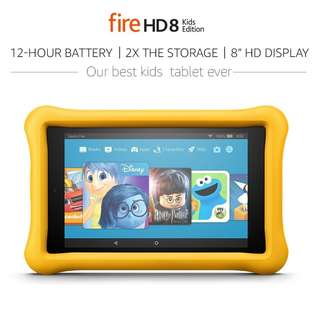 Amazon Fire HD 8 Kids Edition Tablet 8 Inch 32GB Kid Proof Case YELLOW
