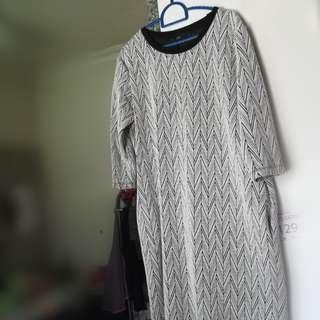 SEED Dress/Top Black & White