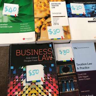 Law Text Book (Business Law, Tax Law, etc)