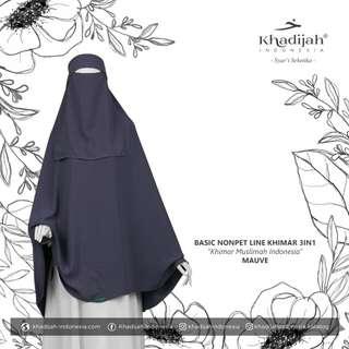 Khimar basic non pet line mauve by khadijah