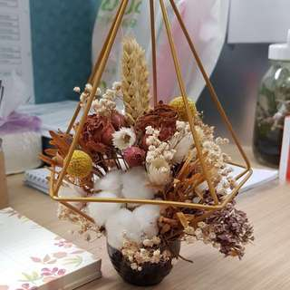 Dried Flowers Terrarium (Desk Flowers)