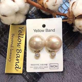 韓國東大門代購新款2018款yellow band耳飾時尚耳夾