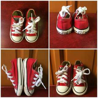 100% ORIGINAL Converse Shoes for Kids *RED*