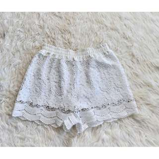 White Lacey Shorts (good for summer)