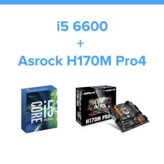 Intel i5 6600 + AsRock H170M Pro4