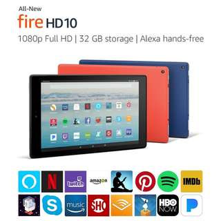 All New Fire HD 10 Tablet with Alexa 1080p Full HD Display 32 GB BLACK