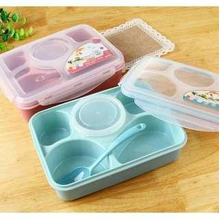 Lunch Box 5 sekat + mangkok BPA Free