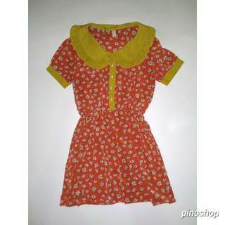Dress hijau orange