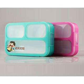 Lunch Box 3 Sekat Proof Grid BPA Free