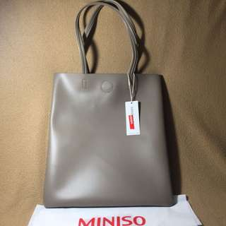 Miniso Simple Shoulder Bag Light Brown