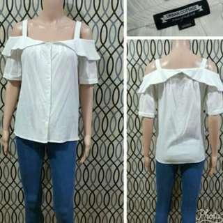 Offshoulder strap blouse