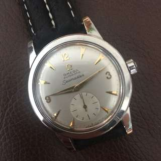 OMEGA 40's Seamaster Automatic bumber w/Small Sub-Second Man Vintage Wrist Watch RARE in Near MINT