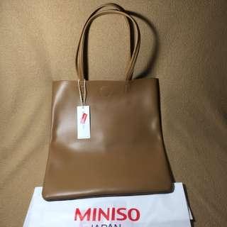 Miniso Simple Shoulder Bag Brown