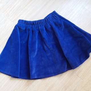 C 紫羅蘭紫色絨面 半截裙 violet purple elastic skirt