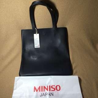 Miniso Simple Shoulder Bag Black