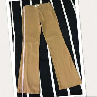 FLARE COTTON STRETCHED PANTS