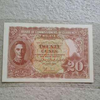 Rarest Variety B & C Malaya 20 Cents