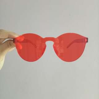 Red jelly glasses