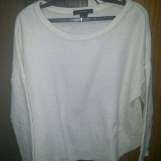 Forever 21 White Knitted Sweater