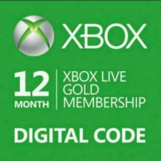 XBox Live Gold Membership 12 Month Digital Code Fully Verified - $65