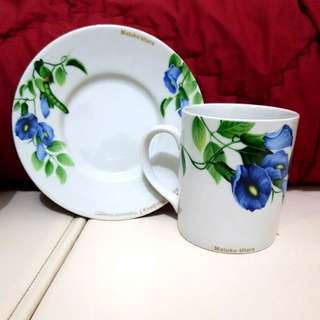 Tea Set Floral Kembang Telang