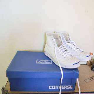 Converse Jack Purcell Signature White Leather Hi