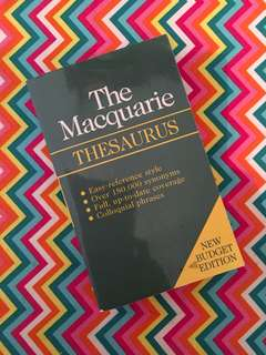 Charity Sale! The Macquarie Thesaurus Pre-loved